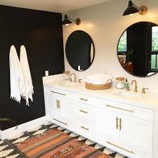 black and white bathroom furniture. u201cso beyond thrilled to share this awesome black and white bohemian bathroom the furniture s