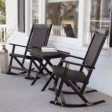 black wicker rocking chair. Modren Wicker Black Wicker Rocking Chair With Stained Wooden Based Combined  Throughout Outdoor Chairs Pillow That Goes  For U