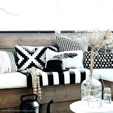 black and white outdoor cushions cushion material waterproof com acement company striped australia