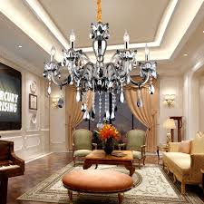 get ations after the european modern minimalist chandelier villa living room gray smoke crystal chandelier elbow mgoo