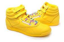 reebok high tops womens. reebok women shoes freestyle hi top rainbow 2-176156 yellow high tops womens