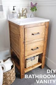 how to build rustic furniture. Beautiful Furniture How To Build A DIY Bathroom Vanity For 65 This Rustic  Work Intended To Build Rustic Furniture