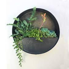 round hanging wall vase herb planter