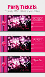 Party Tickets Templates Top 24 Party Ticket Templates Free Premium Templates 5