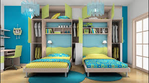 Awesome Twin Bedroom Design Ideas With Double Bed For Boys Room - Double bedroom