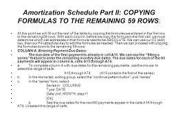 amortization formulas amortization schedule ppt download
