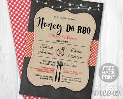 Barbeque Invitation Honey Do Bbq Invitations Honey Do Barbeque Invitation Printable Or