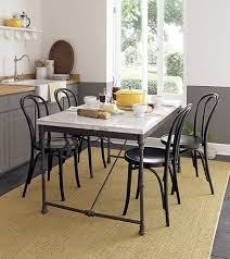 French Country Kitchen Table French Country Styled Kitchen With Black Steel Table And Black