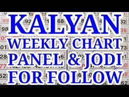 Jodi Chart Sattamatka Kalyan Mumbai Weekly Follow Panel Jodi Chart