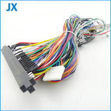 aliexpress com buy jamma harness with 5, 6 action button wires jamma edge connector at Jamma Wiring Harness