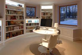 home offices fitted furniture. Circular Home Office And Library - View 1 Offices Fitted Furniture