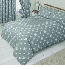 main image white star grey single bedding