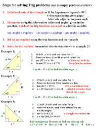 ppt steps for solving trig problems see example problems below powerpoint presentation id 3567037