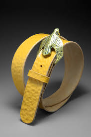 handmade leather belt by diane louise paul