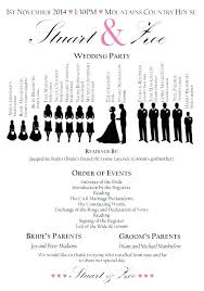 Order Of Events Wedding Template Reception Free Ord