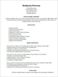 Cosmetology Resume Skills. Beauty Artist Resume Examples {Created By ...