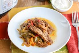 You can substitute chicken or pork instead of beef if you like. Instant Pot Steak Fajitas Recipe A Dinner The Whole Family Will Love