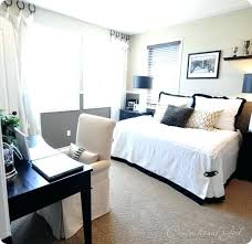 home office bedroom combination. Home Office Spare Bedroom Guest Room Combo Inspiration And Queen Size Combination F