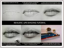 how to draw lips step by step realistic