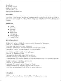Resume Templates: Commodity Trader