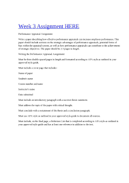 Calaméo Bus 303 Week 3 Assignment Performance Appraisal
