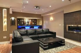 modern basement bar ideas. Interesting Ideas Modern Basement Ideas With Sleek Black Sofa Contemporary  Bar With Modern Basement Bar Ideas