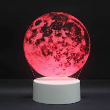 Eclipse Night Light 3d Led Night Lights Moon Eclipse 7 Colors Change Touch Switch Hologram Atmosphere Novelty Lamp Visual