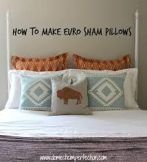 How To Make A Euro Sham Pillow Cover
