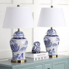 blue and white lamps. Safavieh Lighting 29-inches Shanghai Blue/ White Ginger Jar (Set Of 2) Blue And Lamps A