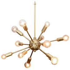 vintage sputnik brass light fixture 1