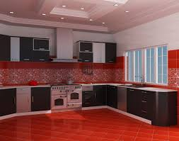 Red Floor Tiles Kitchen Red Kitchen Cabinets Image Of Red Kitchen Cabinets View In