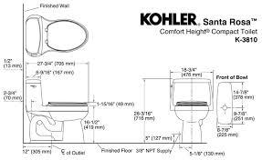 kohler k 3810 dimension