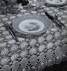 Crochet Tablecloth Pattern Amazing Pineapple Tablecloth Pattern 48 Crochet Patterns
