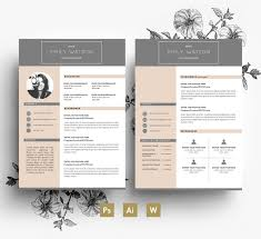 Pretty Resume Template 2 Mesmerizing Clean And Professional CV Template 28 Page CV Cover
