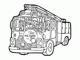 Small Picture Cartoon Fire Truck coloring page for kids transportation coloring