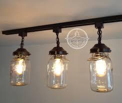 image of rustic track lighting jars