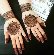 Simple Round Mehndi Design Henna Tattoo Design Wedding Eid Mehndi Designs For