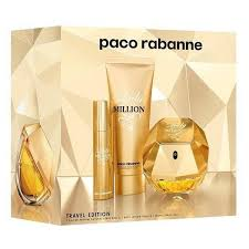 paco rabanne lady million gift set eau de parfum natural spray 80ml body lotion