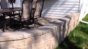 Seating Wall Blocks Paver Patio With Sitting Wall Youtube