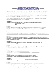 Sample It Resume Objective Statement Elegant For Examples Summary