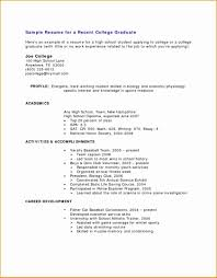 Resume How Torite Good Student College Internship For