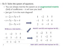ex 3 solve this system of equations