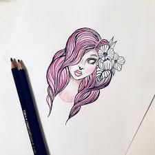 девушка тату эскизы карандаш рисунок эскизы эскиз тату и рисунок