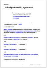 Limited Partnership Agreement Template Limited Partnership Agreement Template
