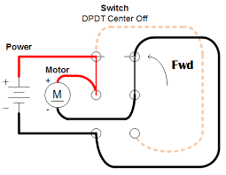 easiest way to reverse electric motor directions robot room spdt switch circuit diagram connections in a dpdt switch resulting in a motor going forward