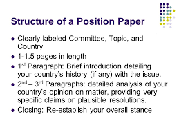 position papers created by richa lal what is a position paper  structure of a position paper clearly labeled committee topic and country 1 1 5