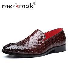Merkmak New <b>Men Leather</b> Casual <b>Shoes</b> Fashion Pointed Toe ...