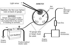 how to install an auto meter pro comp ultra lite voltmeter gauge example wiring of a typical ammeter installation consult vehicle mfr for specific wiring details and safety considerations