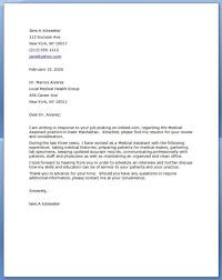 Cover Letter Examples For Medical Assistant Cover Letter Medical Assistant No Experience Medical