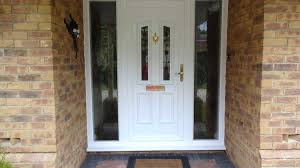 full glass front door knotty alder and sidelights with doors side panels plan 38